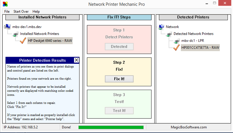 Network Printer Mechanic Pro Screen shot